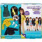 Creatable World: Barna hajú öltöztethető baba 12 kiegészítővel