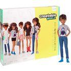 Creatable World: Barna bőrű öltöztethető baba 12 kiegészítővel