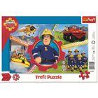 Pompierul Sam: puzzle cu chenar cu 15 piese