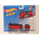 Hot Wheels Track Stars - Custom Volkswagen Hauler autószállító kamion - piros-fekete