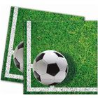 Set 20 de șervețele cu model minge de fotbal - 33 x 33 cm