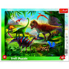 Trefl: Dinozaurii puzzle cu chenar cu 25 piese