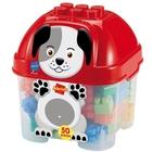Abrick: Set 50 cuburi de construcție în cutie cu model câine