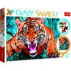 Trefl Crazy Shapes: Egy tigrissel szemben puzzle - 600 darabos