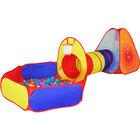 Iplay Set corturi de joacă cu bazin și tunel - 100 buc. mingi
