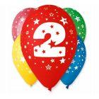 Színes,születésnapi számos lógó lufi csomag, 30 cm - 2