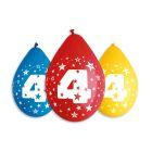 Színes,születésnapi számos lufi csomag, 30 cm - 4