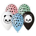 Pachet de baloane premium cu model Panda, 33 cm - 5 buc.