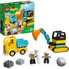 LEGO DUPLO: Camion și excavator pe șenile 10931