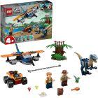 LEGO Jurassic World: Velociraptor - Kétfedelű repülőgépes mentőakció 75942