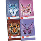 x.book: Wild Animals Caiet cu linii 21-32 - A5, diferite