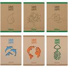 Ecoline négyzetrácsos füzet 100%-ban újrafelhasznált papírból - A4, többféle