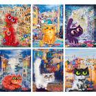 PP Crazy Cats négyzetrácsos füzet - A5, többféle