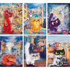 PP Crazy Cats vonalas füzet - A5, többféle