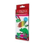 Pigna Set de 12 creioane colorate hexagonale