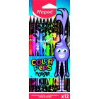MAPED: Color Peps Monster színes ceruza készlet - háromszögletű, 12 db