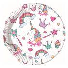 Magic Party papír tányér, 23 cm - 8 darabos