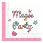 Magic Party szalvéta, 33 x 33 cm - 20 darabos