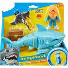 Imaginext: Elsüllyedt kincses láda,cápa és búvár figura szett