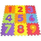 Tatamiz: Habcsivacs puzzle szőnyeg, 9 db-os - számok
