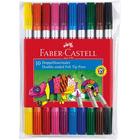 Faber-Castell: Kétvégű, kimosható, 10 db-os filctoll készlet