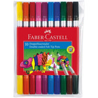 Faber-Castell: Set de 10 markere lavabile cu două capete