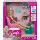 Barbie: Păpușă Wellness - Set de joacă Salon de manichiură și pedichiură