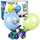 Boxeri cu cap balon - albastru-verde