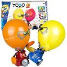 Boxeri cu cap balon - roșu-galben