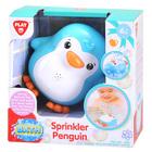 Playgo: Pinguin stropitoare de apă - albastru, jucărie baie