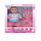 Păpușă bebeluș cu serviciu de masă - 28 cm