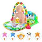Zenélő babafoglalkoztató szőnyeg zongorával - zöld
