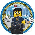 Lego City papírtányér, 23 cm - 8 db