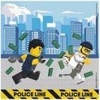 Lego City szalvéta 33 x 33 - 16 db