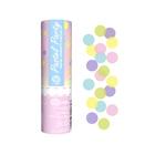 Pasztel színű party konfetti ágyú - 15 cm