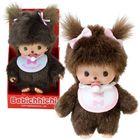 Bebichhichi: Păpușă fetiță cu bavețică roz - 15 cm