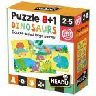 8+1 puzzle cu două fețe - Dinozauri