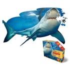 WOW: Puzzle siluetă junior - 100 piese, rechin