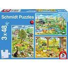 Schmidt : Farm és tanyavilág 3 x 48 db-os puzzle