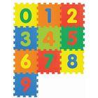 Covoraș puzzle de burete cu cifre - 10 piese
