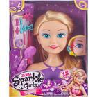 Sparkle Girlz: Fésülhető babafej hajdíszekkel