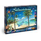 Schipper: Festés számok szerint - fehér homokos tengerpart, 50 x 80 cm, 3 részes
