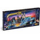 Schipper: Festés számok szerint - Manhattan at Night, 40 x 80 cm fekvő