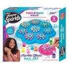 Shimmer and Sparkle: Set de manichiură - unghii marmorate