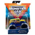 Monster Jam: Mașinuță Bounty Hunter cu brățară silicon