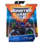 Monster Jam: Mașinuță Salvager cu brățară silicon