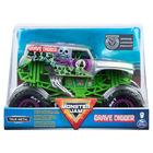 Monster Jam: Mașinuță Grave Digger - argintiu, 1:24