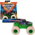 Monster Jam: Mașinuță Grave Digger cu brățară silicon