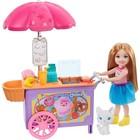 Barbie: szőke hajú Chelsea fagyis kocsival