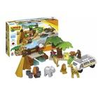 Unico Plus: Joc de construcție - Safari, 55 de piese